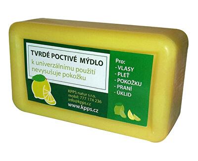Koupelové tvrdé poctivé mýdlo - citron 150 g