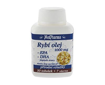MedPharma Rybí olej 1000 mg – EPA + DHA 30 tob. + 7 tob. ZDARMA