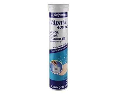 MedPharma Vápník 400 mg + hořčík + zinek + vitamín D3 20 šumivých tbl.
