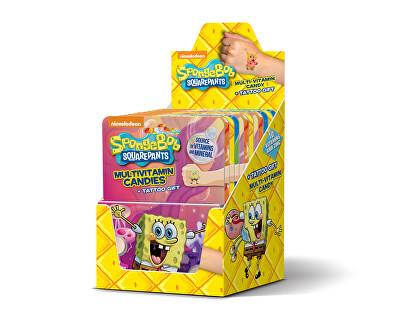 Vieste group Vieste Multivitamín SpongeBob + tetovanie 12x12 tbl