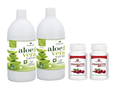 Pharma Activ AloeVeraLife 1+1 ZDARMA (1000 ml + 1000 ml) + 2 x Cranvita Activ 55 kapslí