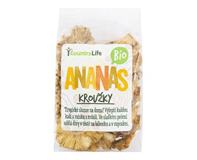Country Life Ananás krúžky sušené BIO 100 g<br /><strong>Ananas kroužky</strong>