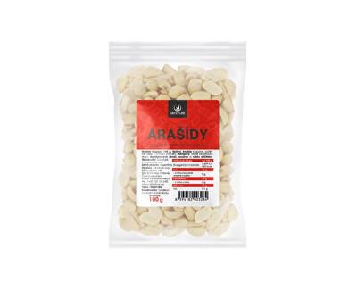 Allnature Arašidy pražené nesolené lúpané 100 g