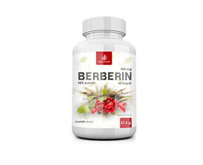 Berberin Extrakt 98 % 500 mg 60 kapslí