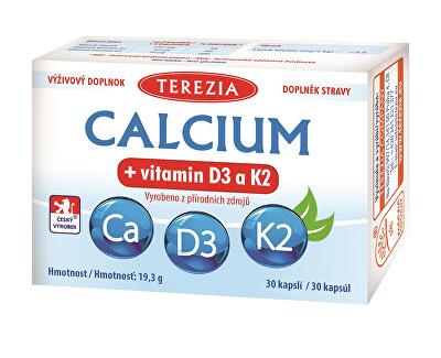 Terezia Company Calcium + vitamin D3 a K2 30 kapslí