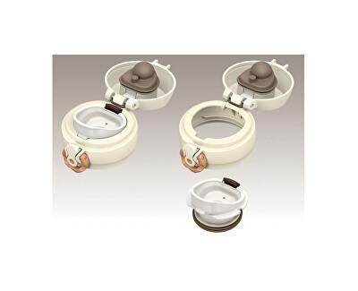 Motion Mobilní termohrnek - perleťově bílá 500 ml