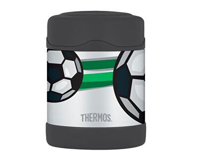 FUNtainer Detská termoska na jedlo - futbal 290 ml