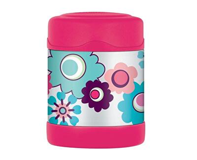FUNtainer Detská termoska na jedlo - kvety 290 ml