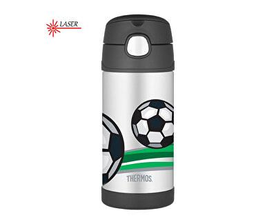 Thermos FUNtainer Detská termoska so slamkou - futbal 355 ml