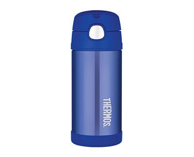 FUNtainer Detská termoska so slamkou - modrá 355 ml