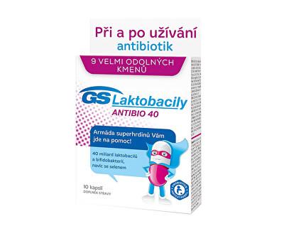 GS Laktobacily Antibio 40 10 kapslí