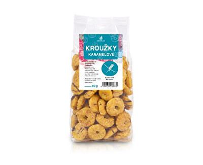 Kroužky karamelové 80 g