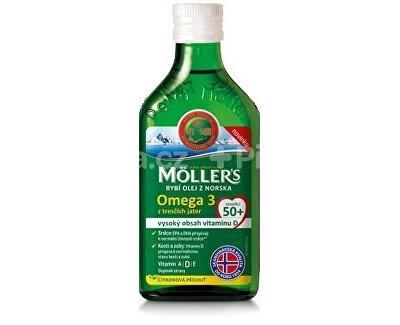 Möller´s Möller`s rybí olej Omega 3 z tresčej pečene pre dospelých 50+ 250 ml