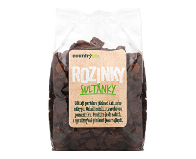Country Life Rozinky sultánky 250 g<br /><strong>Rozinky sultánky</strong>