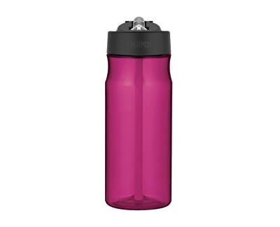 Sport Hydratačný fľaša so slamkou - purpurová 530 ml