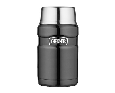 Thermos Style Termoska na jídlo se šálkem - metalicky šedá 710 ml