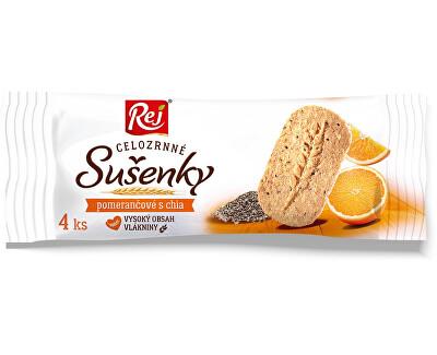 Rej Sušenky celozrnné pomerančové s chia 34g