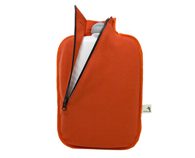 Termofor Eco Classic Comfort se softshellovým obalem na zip – oranžový