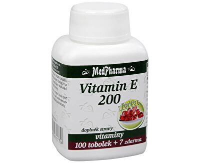 MedPharma Vitamín E 200 100 tob. + 7 tob. ZDARMA