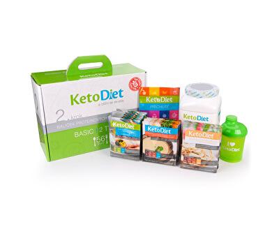 KetoDiet 2 týdenní proteinová dieta - Balíček BASIC 2. krok pro ženy (56 porcí)