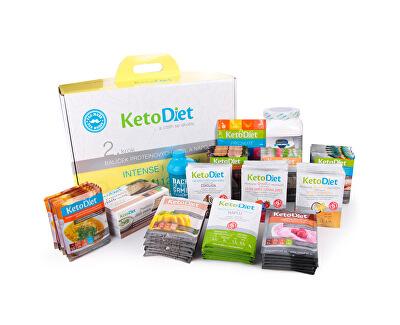 KetoDiet 4 týdenní proteinová dieta - Balíček INTENSE 2. krok pro muže (112 porcí)