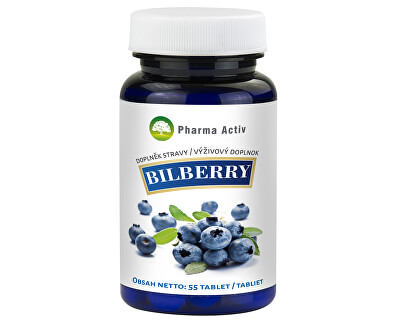 Pharma Activ Bilberry Čučoriedka extrakt 55 tabliet