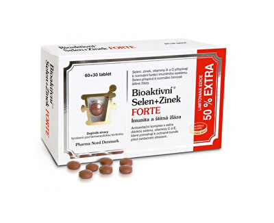 Bioaktívny Selén + Zinok FORTE 60 + 30 tablet EXTRA