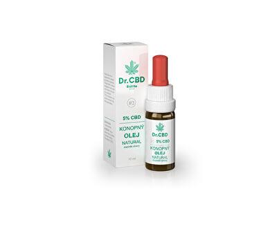 Dr. CDB Dr. CBD Konopný olej NATURAL 10 ml