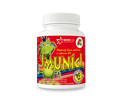 Nutricius Imuníci - hliva ustricová s vitamínom D pre deti 90 cmúľacích tbl.