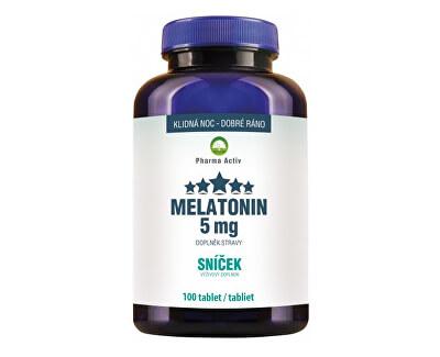 Pharma Activ Melatonin 5mg Sníček 100 tablet