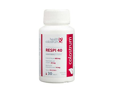 RESPI 40 (400 mg) + bakteriální lyzáty - příchuť brusinka 30 cucavých tbl.