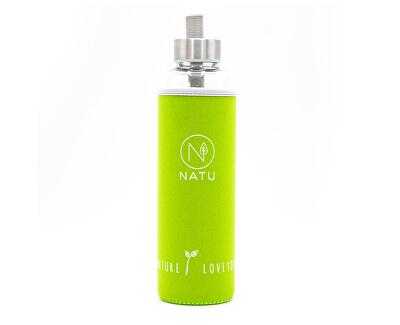 Skleněná lahev v zeleném termo obalu Natu 550 ml