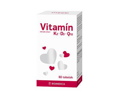 Biomedica Vitamín K2+D3+Q10 60 tablet