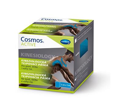 Cosmos Cosmos Active - Kinezio tejp. páska modrá 5 cm x 5 m