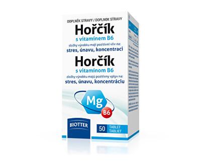 Biotter Pharma Horčík 125 mg s vitamínom B6 50 tablet