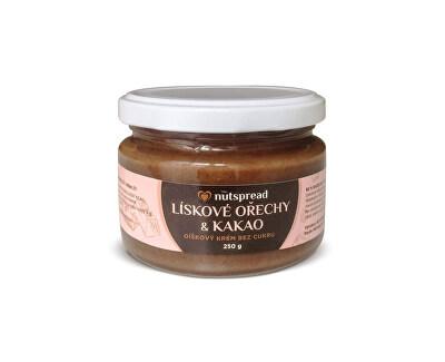Nutspread Lieskovoorieškové maslo s kakaom Nutspread