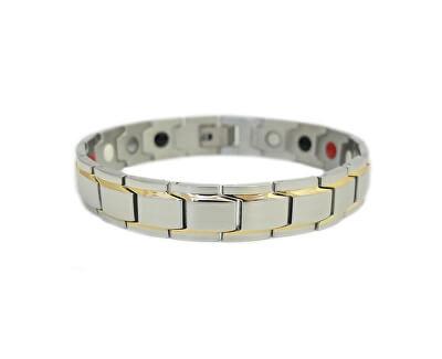 Magnetický náramek multifunkční BNS - nerezová ocel 316L (21,5 cm)