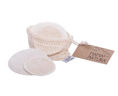 Sada kosmetických tamponů samet – mix 4 ks malý, 2 ks velký