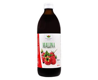 EkoMedica Czech Šťava Malina 100% 500 ml