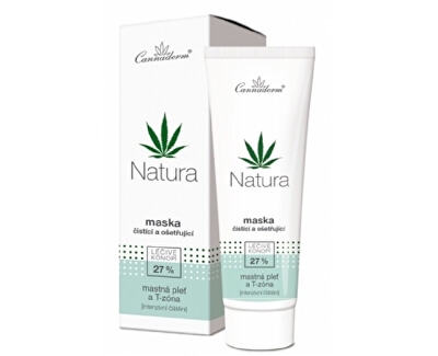 Cannaderm NATURA čistiace a ošetrujúce maska 75 g