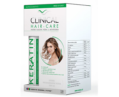 Clinical Hair-Care 120 tobolek + keratin 100 ml - kúra na 4. měsíce