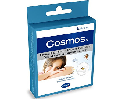 Cosmos Cosmos detská náplasť antibakteriálne 4 ks 76 x 76 mm