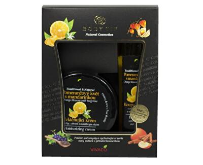 Dárková kazeta Pomerančový květ s mandarinkou - Zvláčňující krém 200 ml + Pěna do koupele 200 ml