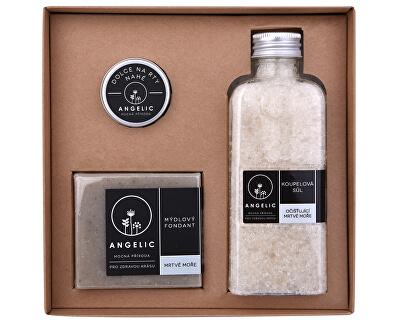 Darčeková krabička Angelic kúpeľová soľ očisťujúce Mŕtve more