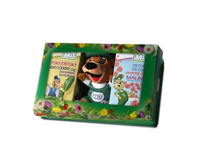 Detská darčeková kazeta s čajmi a hračkou