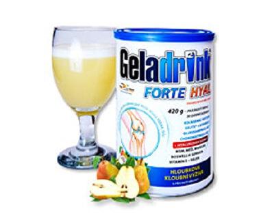 Orling GELADRINK® Forte hyal - hruška, nápoj - 420 g - SLEVA - PROMÁČKLÁ PLECHOVKA