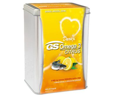 GS Omega 3 Citrus 150 kapslí v plechové krabičce
