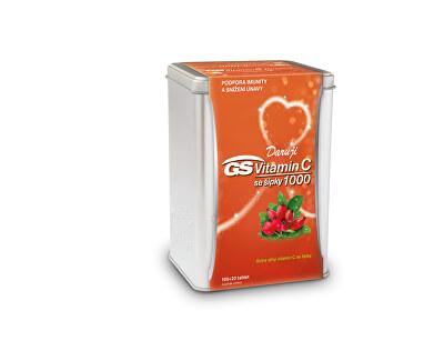 GS Vitamin C 1000 + šípky 120 tablet v plechové krabičce