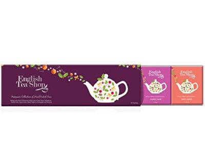 Kolekce čajů fialová, 60 sáčků, 4 příchutě