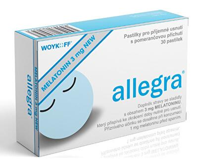 Melatonin allegra 3 mg NEW 30 pastilek